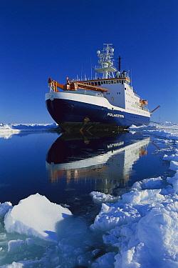 German icebreaker Polarstern amid ice floes, Ispol expedition, Weddell Sea, Antarctica  -  Ingo Arndt
