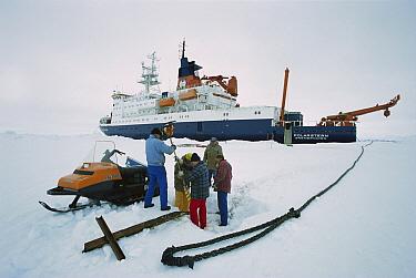 Fixing anchor from German icebreaker Polar Stern, on ice floe, Ispol expedition, Weddell Sea, Antarctica  -  Ingo Arndt