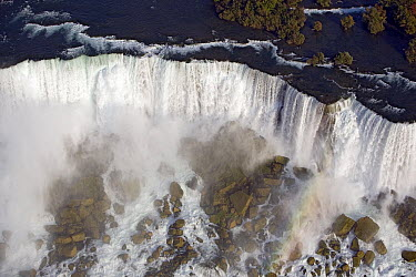 Aerial view of the American Falls at Niagara Falls, New York  -  Ingo Arndt