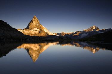 The Matterhorn with reflection in Riffelsee Lake, Alps, Switzerland  -  Ingo Arndt