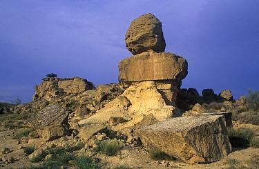 Exposed, wind eroded rocks near San Lorenzo del Flumen, Spain  -  Albert Lleal