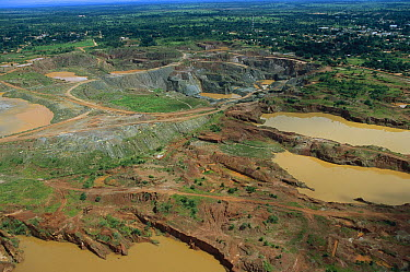 Gold mines during rainy season, Pantanal, Brazil  -  Theo Allofs