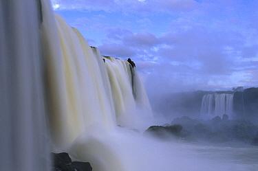 Cascades of Iguacu Falls, Iguacu Falls National Park, Brazil  -  Theo Allofs
