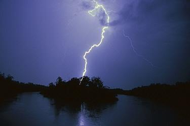 Lightning over Jim Jim Billabong during the rainy season, Kakadu National Park, Australia  -  Theo Allofs