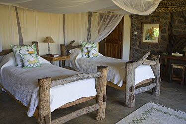 Room inside tourist facility, Lewa Wildlife Conservancy, Kenya  -  Suzi Eszterhas