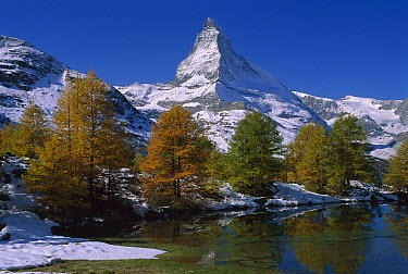 Mountain lake near the Matterhorn, Switzerland  -  Thomas Marent
