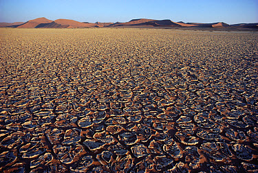 Cracked mud flat, Namib Desert, Namibia  -  Jim Brandenburg