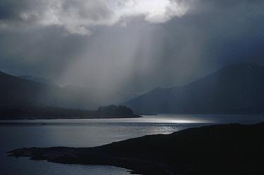 Sunburst after storm over Loch Ness, Scotland  -  Jim Brandenburg