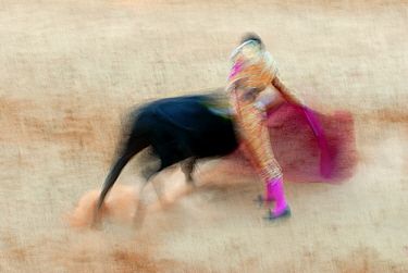 Matador fighting a bull, Marbella, Costa del Sol, Andalucia, Spain  -  Simon Littlejohn/ NiS