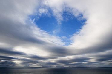 Clouds over ocean, Isfjorden, Svalbard, Norway  -  Jasper Doest