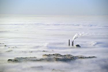 Tartu town in morning fog, Tartumaa, Estonia  -  Sven Zacek/ NiS