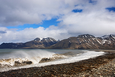 Coastal landscape, Isfjorden, Svalbard, Arctic Ocean, Norway  -  Jasper Doest