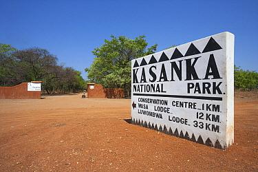 Park entry sign, Kasanka National Park, Zambia  -  Stephen Belcher