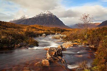 Buachaille Etive Mor and River Etive at sunrise, Glencoe, Scotland, United Kingdom  -  Bart Heirweg/ Buiten-beeld