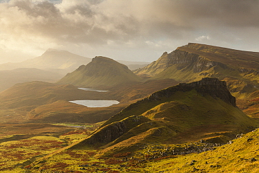 Quiraing hills and mountains, Isle of Skye, Scotland, United Kingdom  -  Bart Heirweg/ Buiten-beeld