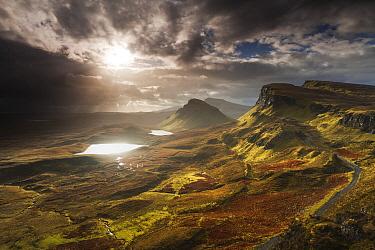 Stormy sky over Quiraing, Isle of Skye, Scotland, United Kingdom  -  Bart Heirweg/ Buiten-beeld