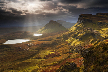 Dramatic light over highlands, Quiraing, Isle of Skye, Scotland  -  Bart Heirweg/ Buiten-beeld