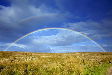 Rainbow over moorland, England  -  Duncan Usher