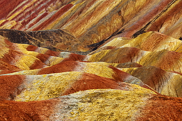 Colorful rock formations, Zhangye Danxia National Geological Park, China  -  Chris Stenger/ Buiten-beeld