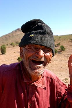 Old man laughing, toothless grin, Morocco  -  Jo Halpin Jones/ FLPA