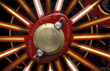 Farming, Machinery Wheel spokes of traction engine FL  -  Catherine Mullen/ FLPA