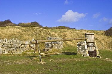 Winding gear for stone quarry, Durlston Country Park, Swanage, Dorset, England  -  Nicholas and Sherry Lu Aldridge/