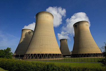 Cooling towers of coal-fired power station, Drax Power Station, Goole, North Humberside, Yorkshire, England, may  -  Robin Chittenden/ FLPA