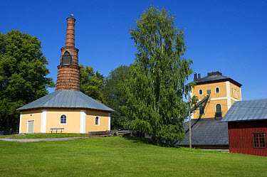 Furnace at historical iron works, Brevens Works, Narke, Svealand, Sweden, august  -  Bjorn Ullhagen/ FLPA