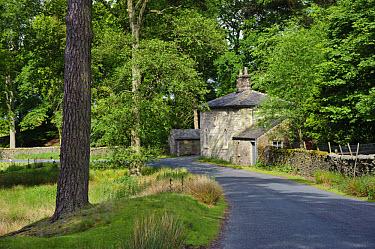 Small house originally intended as gate lodge for ruined Wyresdale Tower, Tower Lodge, Marshaw, Over Wyresdale, Forest of Bowland, Lancashire, England, june  -  John Eveson/ FLPA