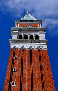 Campanile bell tower, St. Mark's Square, Venice, Italy  -  OceanPhoto/ FLPA