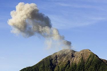 Volcanic eruption with ash plume, Mount Komba, Alor Archipelago, Lesser Sunda Islands, Indonesia, November  -  Colin Marshall/ FLPA