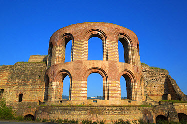 Ruins of Roman baths, Kaiserthermen (Imperial Baths), Trier, Rhineland-Palatinate, Germany, May  -  Bernd Rohrschneider/ FLPA