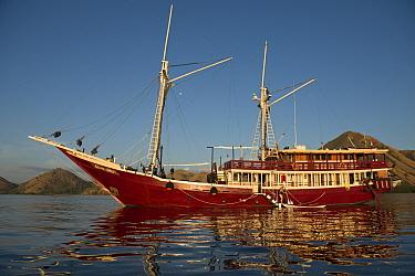 Liveaboard dive boat at sea, Kelor Island, near Flores Island, Komodo National Park, Lesser Sunda Islands, Indonesia, July  -  Colin Marshall/ FLPA