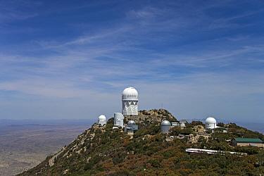 View of astronomical telescopes, Kitt Peak National Observatory, Kitt Peak, Quinlan Mountains, Sonoran Desert, Tohono O'odham Nation, Arizona, U.S.A., April  -  Mark Newman/ FLPA