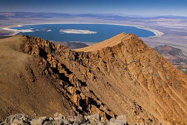 Mono Lake, seen from 12,000 ft on Dana Plateau, eastern Sierra Nevada, California.