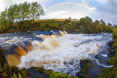 River Snizort, Isle of Skye, Salmon leap falls, Skye, Scotland, October