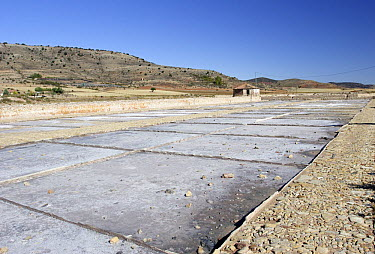Salt pans at Imon, Guadalajara, Spain  -  Jose B. Ruiz/ npl