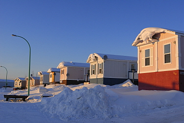 Typical mobile homes in Yellowknife, Northwest Territories, Canada March 2007  -  Eric Baccega/ npl