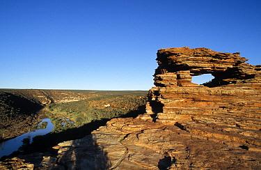 Nature's Window, a natural rock arch that overlooks the Murchison River in the Kalbarri National Park, Western Australia  -  Jurgen Freund/ npl