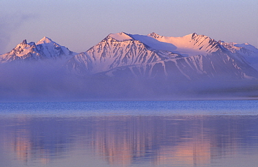 Sunrise at Kaldzhin-Kol Lake,2000m, Ukok plateau, S Altai mountains near the border with Kazakhstan South Altai Ridge, separating Russia from China  -  Konstantin Mikhailov/ npl