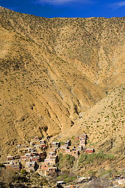 Setti-Fatma Village, Vallee de l'Ourika (Ourika Valley), south of Marrakech, in the High Atlas Mountains, Morocco, Africa  -  Inaki Relanzon/ npl