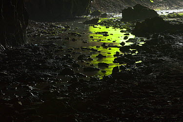 Stream flowing through cave, Djerdap National Park, Serbia, June 2009  -  WWE/ Smit/ npl