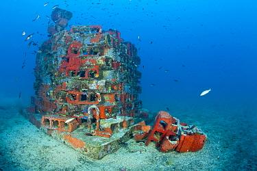 One of the deeper artificial reefs, Larvotto Marine Reserve, Monaco, Mediterranean Sea, July 2009  -  WWE/ Banfi/ npl