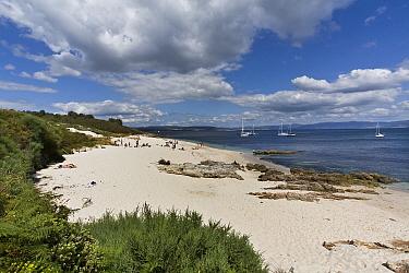 Playa de Carracido, Parque Nacional de las Islas Atlantica (Atlantic Islands National Park), Galicia, Spain July 2008  -  Angelo Gandolfi/ npl