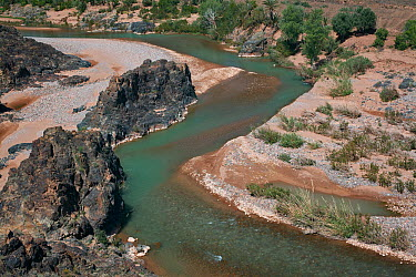 Oued Dades river in the Dades Valley, Atlas Mountains, Morocco March 2007  -  Angelo Gandolfi/ npl