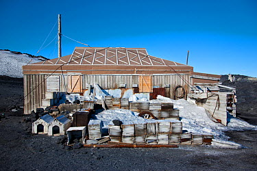 Hut at Cape Royds from Sir Ernest Shackleton's Nimrod Expedition (1907-1909) Ross Sea, Antarctica, December 2008  -  Sue Flood/ npl