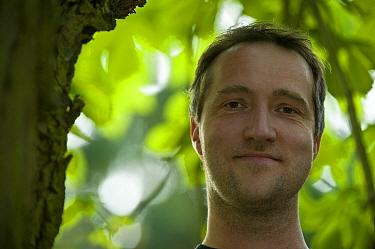 Photographer, Dieter Damschen, Elbe Biosphere Reserve, Lower Saxony, Germany, September 2008  -  WWE/ Damschen/ npl