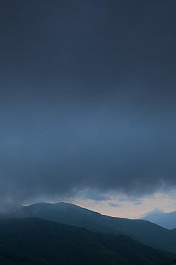 Dark clouds over hills, Pollino National Park, Basilicata, Italy, June 2009  -  WWE/ Muller/ npl
