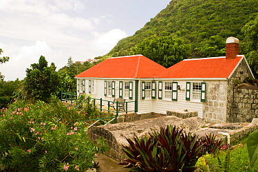 Church and museum, The Bottom, Saba Island in the Dutch Caribbean, Netherlands Antilles, West Indies August 2006  -  Michele Westmorland/ npl