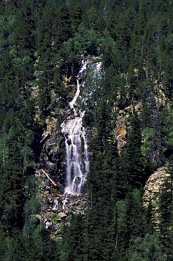 Waterfall at Aigues Tortes-St, Mauricio NP, Pyrenees, Spain, Europe  -  Jose B. Ruiz/ npl